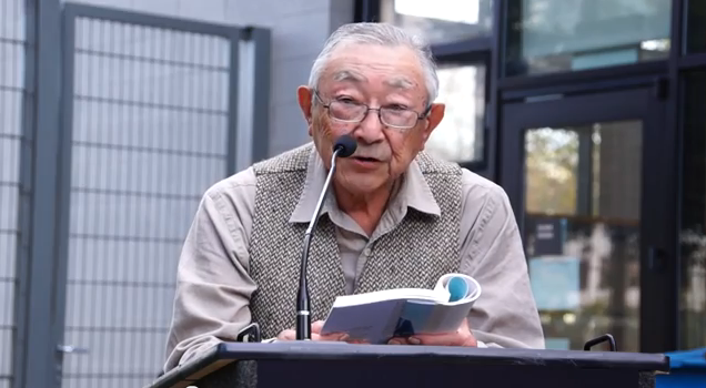 Hiroshi Kashiwagi reads at Nichi Bei Author Series. Watch video by Katsumigumi here.