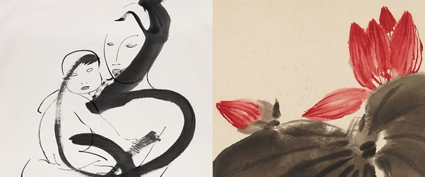 Art by Noguchi (left) and Qi (right)