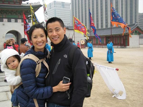 Niu with family at Gyeongbokgung Palace in Seoul Korea. • Photo courtesy of TINYpulse