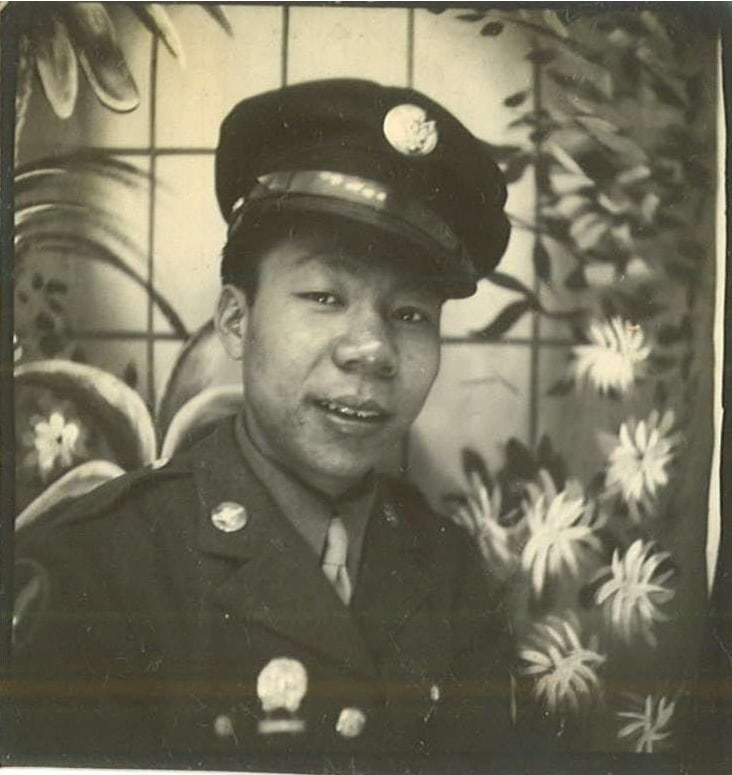 Chinese American World War II soldier Wah Lee. • Photo from the Asian American Comparative Collection (AACC)