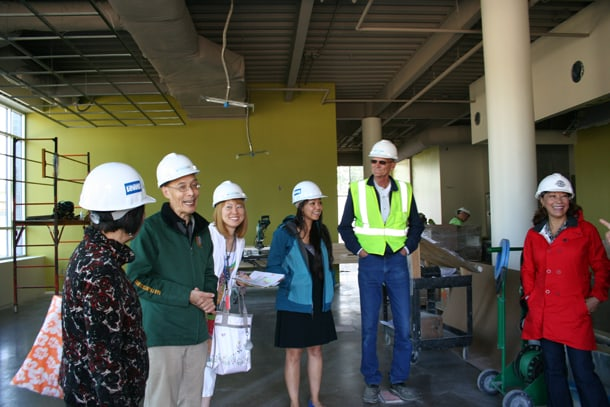 ICHS staff inspect the construction of the Shoreline clinic earlier this year. Courtesy Photo