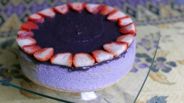 The Hood-Famous Ube Cheesecake. • Courtesy Photo