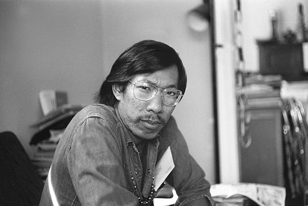American playwright Frank Chin in San Francisco, California in 1975. • Photo by Nancy Wong
