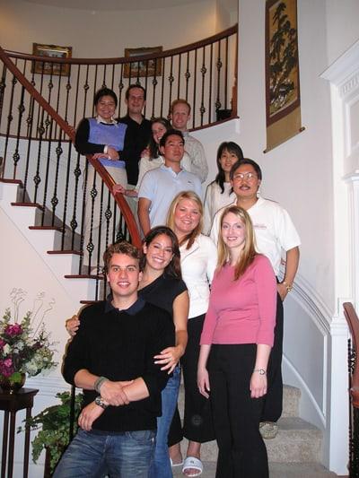 Jesse Tam (center, furthest right) at a Seattle University mentorship party. • Courtesy Photo