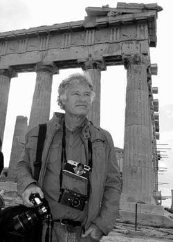 Jeff Widener in Greece, 2010. • Photo Courtesy of  Corinna Seidel