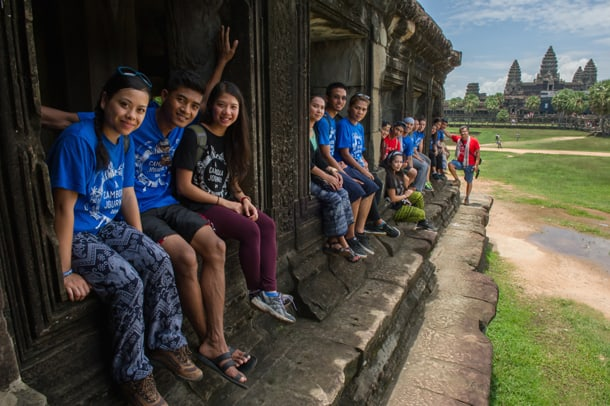 YMCA group photo in front of Angkor Wat temple in 2014. • Courtesy Photo