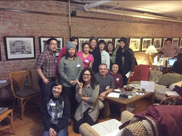 "Members of the ""Family: API LGBTQ Gathering"" planning committee. • Photo Courtesy of Sarah Baker"