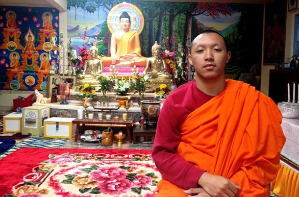 The Venerable Prenz Sa-Ngoun at Watt Dammacakkaram. • Courtesy Photo