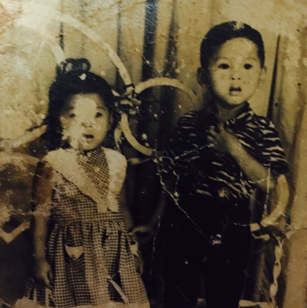 """""""Only family photograph (1965) that has survived the genocide,"""" Charles Som Nguyen said. """"This is a picture of my mom's older sister and older brother (both are deceased)."""""""