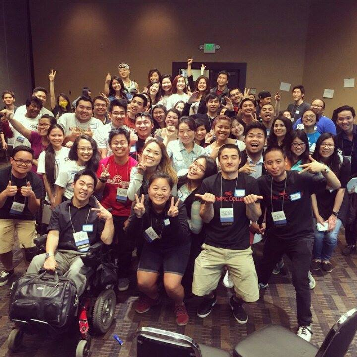 A group shot of the Asian American Identity Workshop. • Courtesy Photo