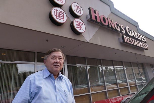 """Faye Hong's family owned and operated the iconic Atlas Café from 1956 to 1983, on the corner of Maynard and King. Faye then opened the House of Hong and ran it from 1983 to 1992, when he retired and sold it. He then """"un-retired"""" and Hong's Garden Restaurant, in Renton, was open from 1994 till Saturday, August 29 for 21 years. • Photo by Jeff Hanada"""