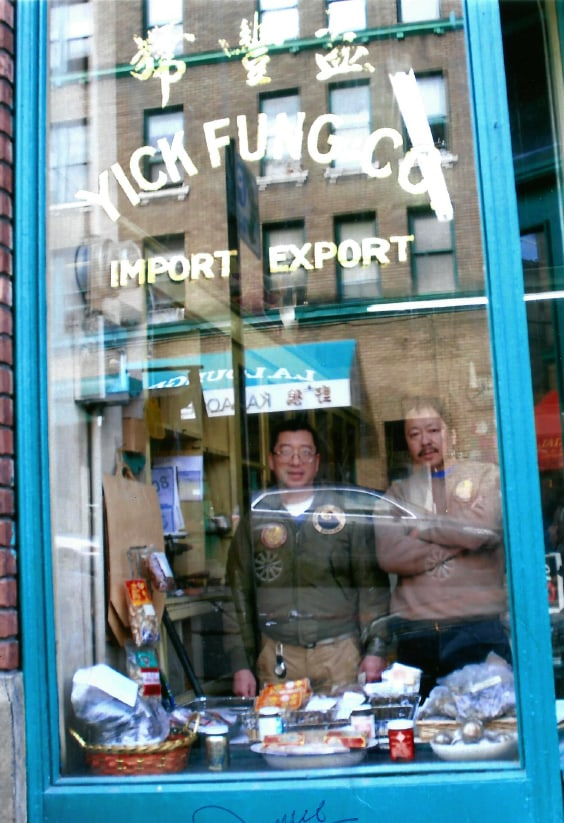 Best friends Donnie Chin and Dean Wong at yuck Fung Co in 2008. • Photo Courtesy of Dean Wong