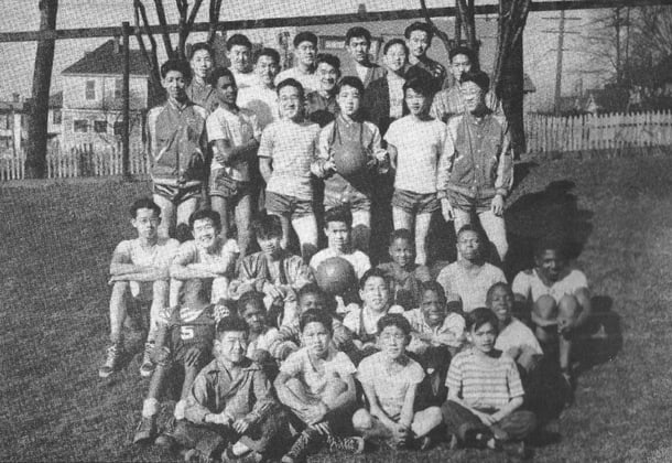 A group of children get together in Collins Playfield in 1950s. • File Photo