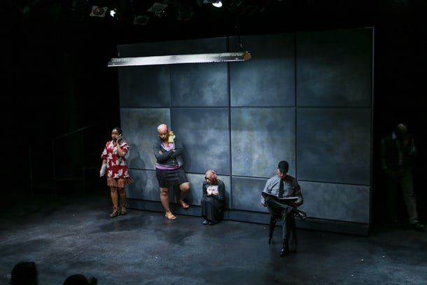 """A scene from """"Little Bee,"""" which was featured at Book-It Repertory Theatre earlier this summer. • Photo by John Ulman"""