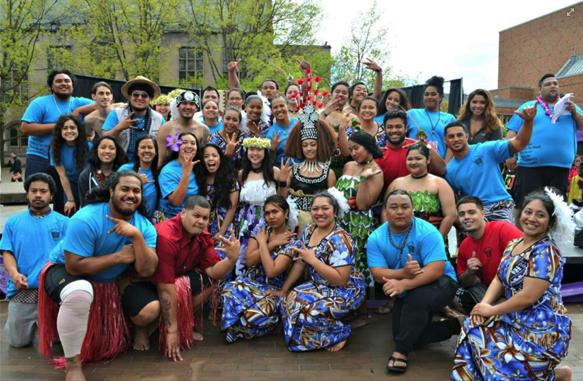 PSA Members posed as a group on Poly Day 2015 (Photo posted on the UW Polynesian Student Alliance Facebook Page on May 1st, 2015).