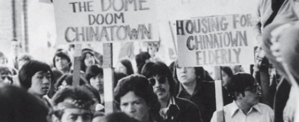 Activists protest the Kingdome in the 1970s. • File Photo