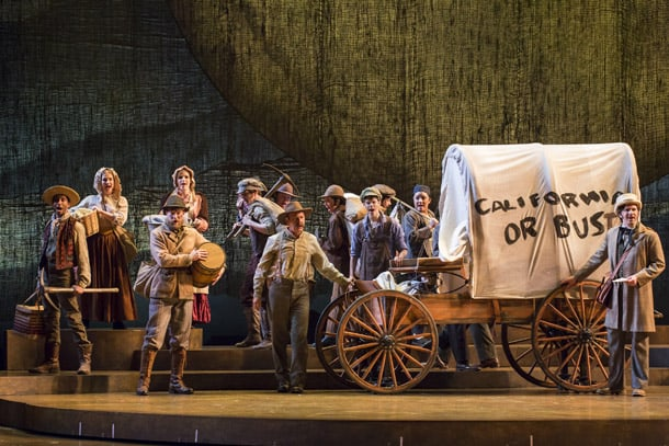 The Company of Lerner & Loewe's Paint Your Wagon at The 5th Avenue Theatre. • Photo by Tracy Martin