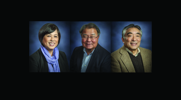 Retiring American Ethnic Studies UW professors Gail Nomura, Steve Sumida, and Tetsuden Kashima. • Courtesy Photos